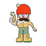 Comic cartoon man smoking pot. Retro comic book style cartoon man smoking pot Royalty Free Stock Photos
