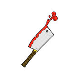 Comic cartoon meat cleaver Royalty Free Stock Photography