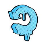 Comic cartoon melting arrow symbol Stock Image