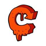 comic cartoon melting arrow symbol Stock Photo