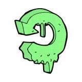comic cartoon melting recycling symbol Stock Image