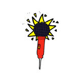 Comic cartoon microphone Royalty Free Stock Photo
