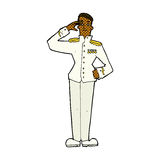 Comic cartoon military man in dress uniform Stock Photo