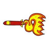 Comic cartoon missile Royalty Free Stock Photo