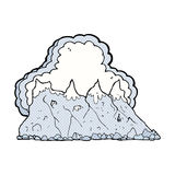 Comic cartoon mountain range Stock Photo