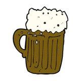 Comic cartoon mug of beer Royalty Free Stock Photography