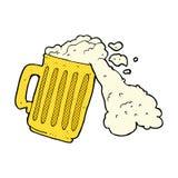 Comic cartoon mug of beer Royalty Free Stock Photos