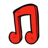 Comic cartoon musical note. Retro comic book style cartoon musical note Royalty Free Stock Photos