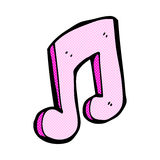 Comic cartoon musical note Royalty Free Stock Photo