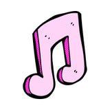 Comic cartoon musical note. Retro comic book style cartoon musical note Royalty Free Stock Photo