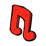 Comic cartoon musical note. Retro comic book style cartoon musical note Stock Photo