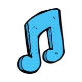 Comic cartoon musical note. Retro comic book style cartoon musical note Royalty Free Stock Images