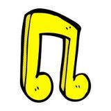 Comic cartoon musical note. Retro comic book style cartoon musical note Royalty Free Stock Photography