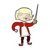 Comic cartoon musketeer Stock Image
