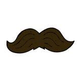 Comic cartoon mustache Stock Image