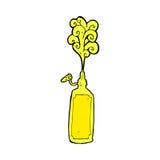 Comic cartoon mustard bottle Royalty Free Stock Image