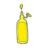 Comic cartoon mustard bottle Stock Photography