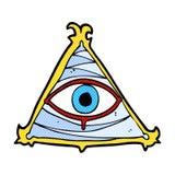 Comic cartoon mystic eye symbol Royalty Free Stock Photos