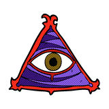 Comic cartoon mystic eye symbol Royalty Free Stock Image