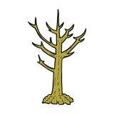 comic cartoon naked tree Royalty Free Stock Photos