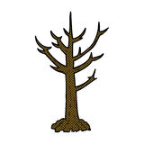 comic cartoon naked tree Royalty Free Stock Images