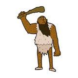 Comic cartoon neanderthal Stock Photos
