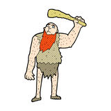 Comic cartoon neanderthal Stock Image