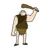 Comic cartoon neanderthal Royalty Free Stock Photos