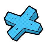 Comic cartoon negative cross symbol Royalty Free Stock Images