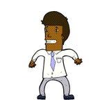 Comic cartoon nervous businessman Royalty Free Stock Photos