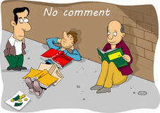 Comic cartoon no comment Stock Image
