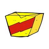 Comic cartoon noodle box Royalty Free Stock Image