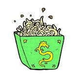 Comic cartoon noodle box Stock Images