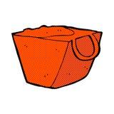 Comic cartoon noodle box Royalty Free Stock Photography