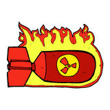 Comic cartoon nuclear bomb Royalty Free Stock Photography