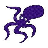 comic cartoon octopus Royalty Free Stock Image