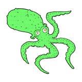 comic cartoon octopus Stock Photos