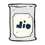Comic cartoon oil barrel. Retro comic book style cartoon oil barrel royalty free illustration