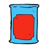 Comic cartoon oil barrel. Retro comic book style cartoon oil barrel vector illustration