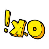 comic cartoon OK symbol Stock Photography