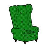 Comic cartoon old armchair Stock Photos