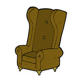 Comic cartoon old armchair Royalty Free Stock Images