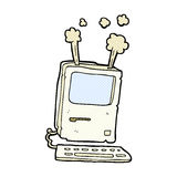 Comic cartoon old computer Stock Images