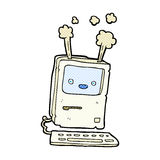 Comic cartoon old computer Royalty Free Stock Photography