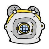 Comic cartoon old deep sea diver helmet Stock Photo