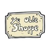 comic cartoon old fake shop sign Stock Photos