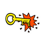 Comic cartoon old key Royalty Free Stock Images