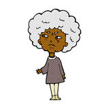 Comic cartoon old lady Royalty Free Stock Image