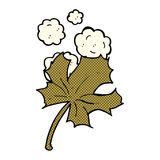 Comic cartoon old leaf Royalty Free Stock Photo
