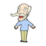 comic cartoon old man gasping in surprise Stock Images